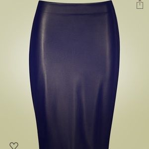 NWT wolford black leather pencil skirt. Size 10